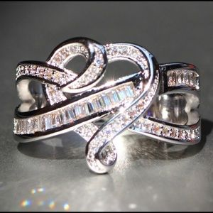 925 Silver Gemstones Diamond Heart Ring